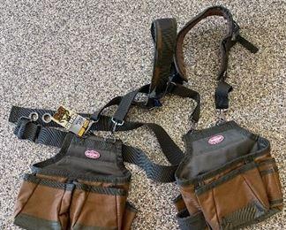 Construction Tool Belt Pouch Suspenders Carpenter Vest AirLift Suspension Rig brand new