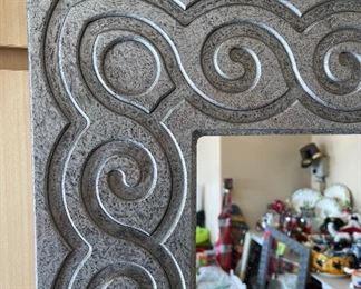Silver metallic large size mirrorTotal length & width 73in X 39in