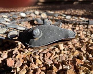 Metal Outdoor decor lizard23in x 18in