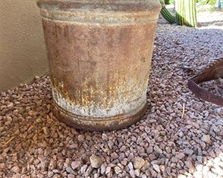 Old metal milk and outdoor yard Decor13in diameter 21in tall