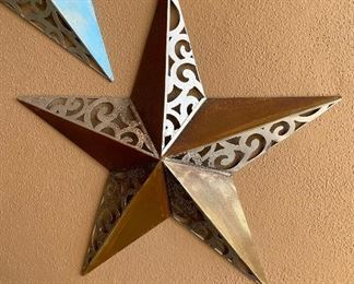 Medium rustic metal star outdoor wall art Decor23in diameter
