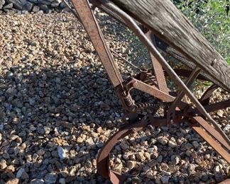 Old pick ax and plow Outdoor yard art Decor7ft long 27in wide
