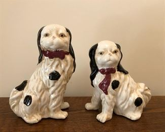 Pair of Staffordshire-style dogs