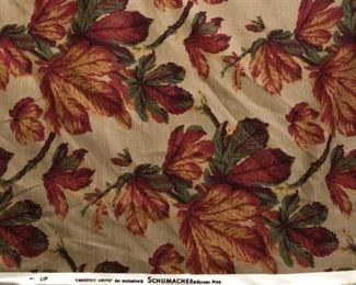 Near complete bolt (10 yards) of Schumacher Chestnut Grove fabric. Photo 2 of 2