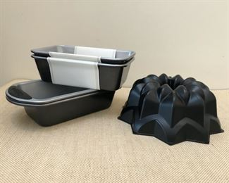"New Cuisinart nonstick 9"" loaf pans and bunt cake mold. Other bakeware available for purchase"
