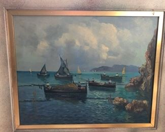 Oil painting signed by unknown artist. Picture 2 of 3