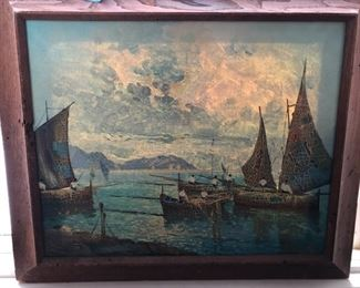 Oil painting signed by unknown artist. Picture 1 of 3