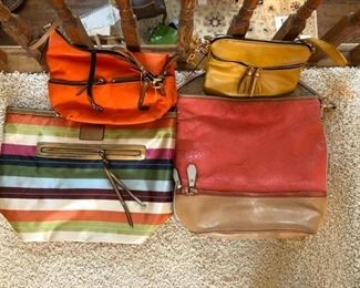 Sample of colorful purses