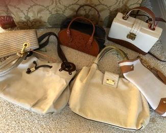 Sample of neutral toned purses