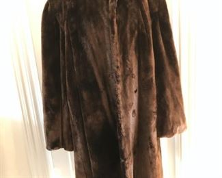 Vintage puff sleeve mutton fur coat from Marshall Fields size M/L