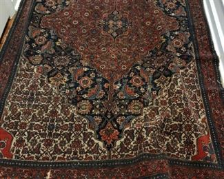 "Antique Persian rug measures 4' 2"" x 6' 8.""  Photo 1 of 2"