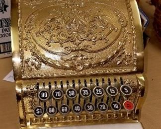"Save The Date and plan on attending next Friday's ""One Day Only"" Living Estate/Household Sale. Contents of 5 families contents under one roof!! Brass National cash register, like new and works!!"
