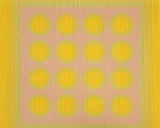 "Julian Stanczak (American, 1928-2017) ""Spinning Cluster"""