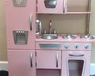 Pink Kids Kraft kitchenette $50.00