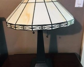 Pair Tiffany style lamps