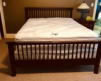 Mission style queen bed