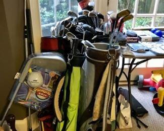Multiple golf bags