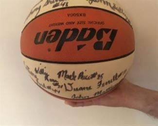 Team Autographed basketball from ACC championship 1985