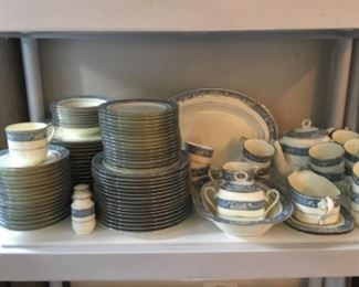 """Noritake """"Randolph"""" China 98 pieces.  Place setting for 14 plus serving pieces."""