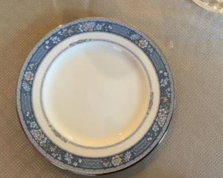 """Complete set Noritake """"Randolph"""" dishes .  Place setting for 14 plus serving pieces."""