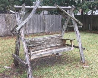 Wood post swing