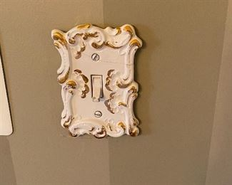 Wall switch plate.