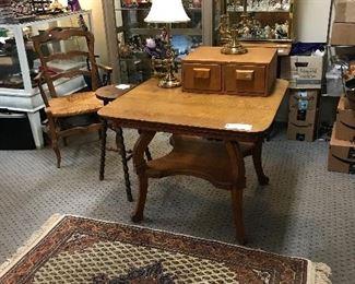 American oak game table