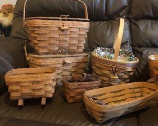 Vintage Longaberger baskets