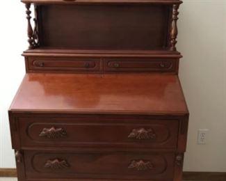 Antique desk and vintage globe