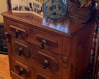 Eastlake Antique chest of drawers with original Victorian pulls