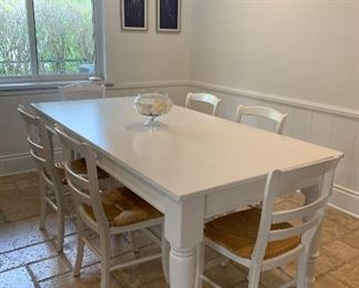 Dining set is from Pottery Barn.