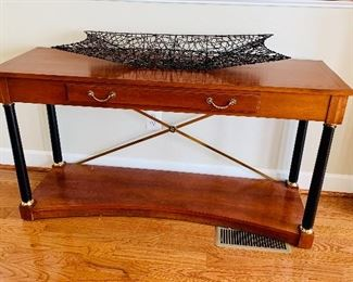 """Ethan Allen Medallion Collection neoclassical one drawer console table. 30.5""""H x 56""""W x 17""""D"""