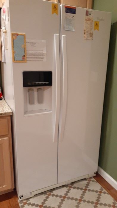 Really nice side-by-side with dispensers..Whirlpool