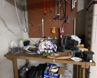 Work bench w/some tools