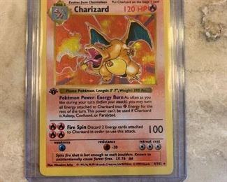 1st Edition Charizard Very High grade PSA 7 or higher $10,000 or best offer accepting all offers Over $7600