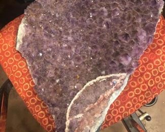Large Amethyst cluster from Uruguay featuring crystal druzy accents - $600
