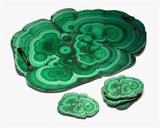 Malachite, Blue Geode or Ammonite printed serving trays - $20