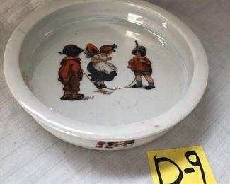 D-9, Bavarian child's porcelain antique dish, $16.00