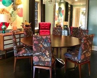 Julian Chichester Dakota table  Was $5000  Now $2700 Italian Modernist side chairs Was $1200 pair/$3600 set of 6 Now  $600 pair/$1800 for set of 6 Julian Chichester Whitby chair Was $2000 each/ $4000 pair Now $1000 each/$2000 pair