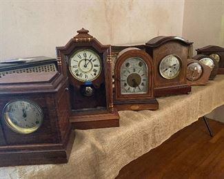 Various antique clocks