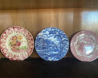 Staffordshire England plates