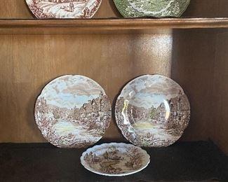 English Staffordshire plates