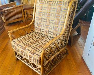 Vintage rattan arm chair