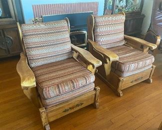 Pair of Monterey arm chairs