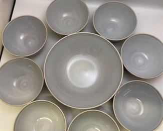 Light Blue / Grey Dish Set
