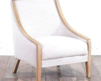 Cream Armchair With Light Golden Frame Design
