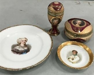 https://www.ebay.com/itm/114658338288KG025 LOT OF 4 ARISTOCRAT TRINKET BOXES AND PLATES Buy-it-Now  $19.99