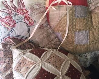 Lots of quilted pillows
