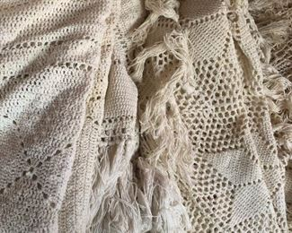 Hand crochet bed covers