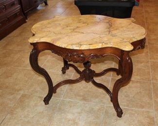 antique marble-top center table